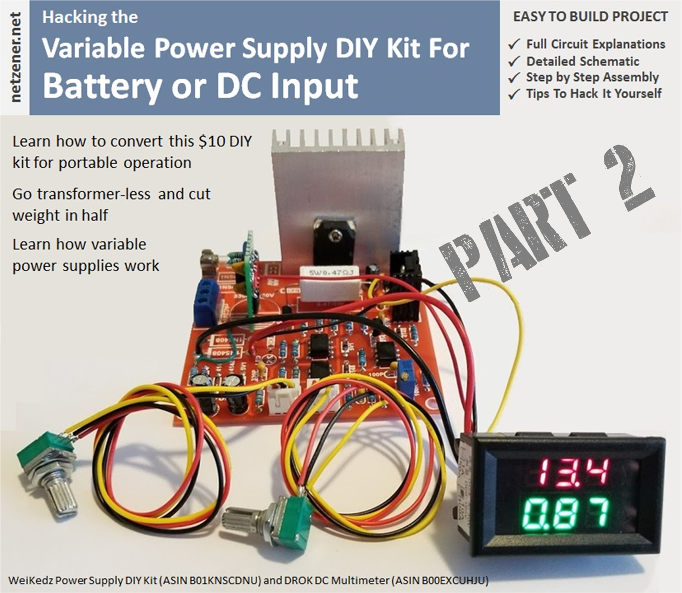 Portable Variable Power Supply Part 2 Regulated