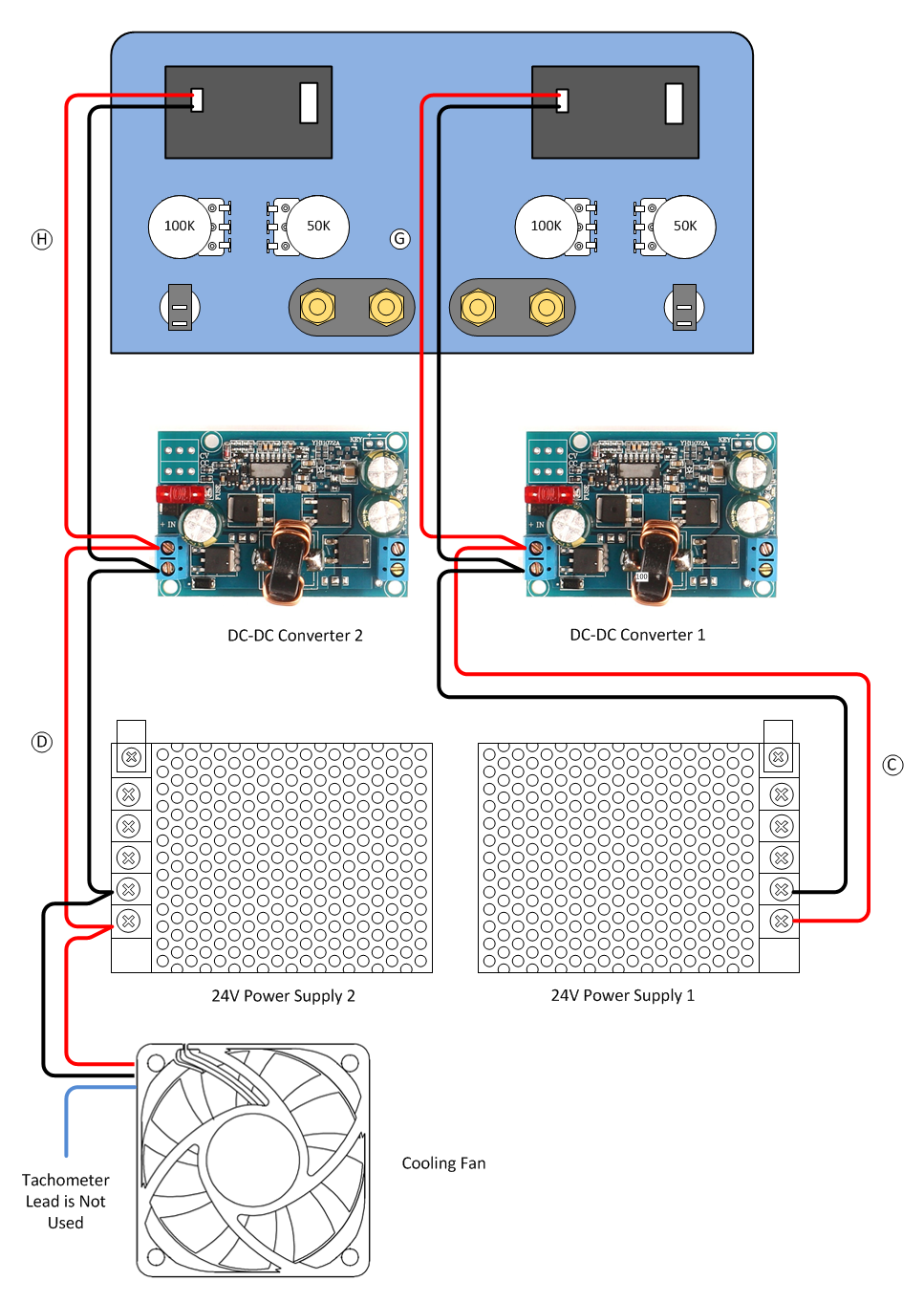 Build A Switched Mode Dual Variable Power Supply Light And Exhaust Fan Switch Wiring Diagram For 1 Powering Attach The 24v Ac Input Ground Leads As Indicated In Above
