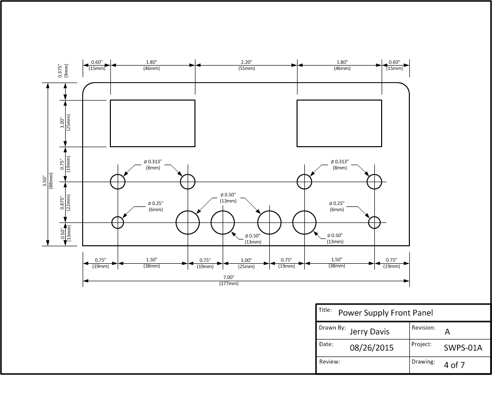 Project Articles Onetube Transmitter Schematic Diagrams And Circuit Descriptions The Power Supply Described In This Article Requires An Enclosure With Following Minimum Dimensions