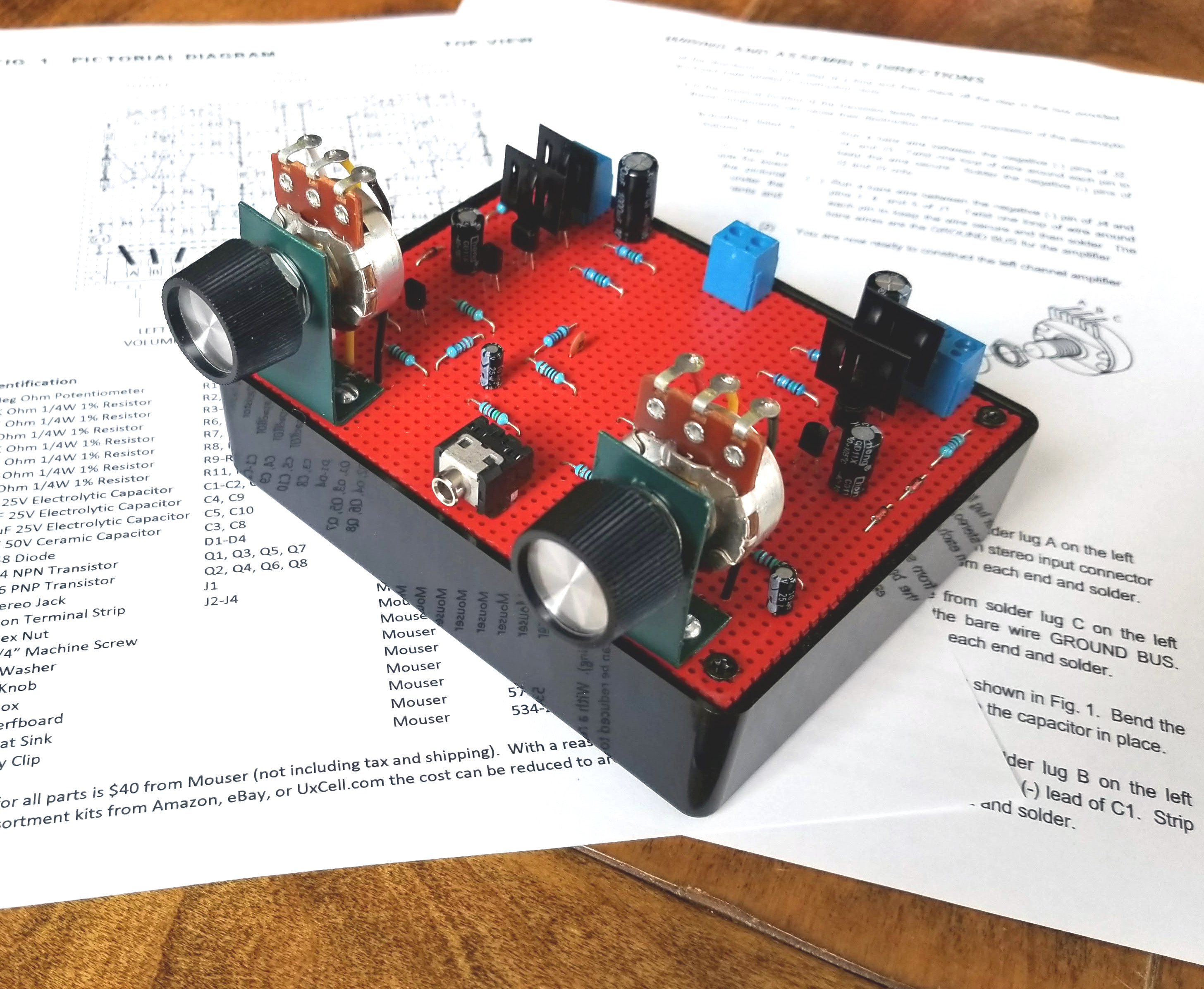 Build This 8 Transistor Stereo Amplifier Input Jack Wiring