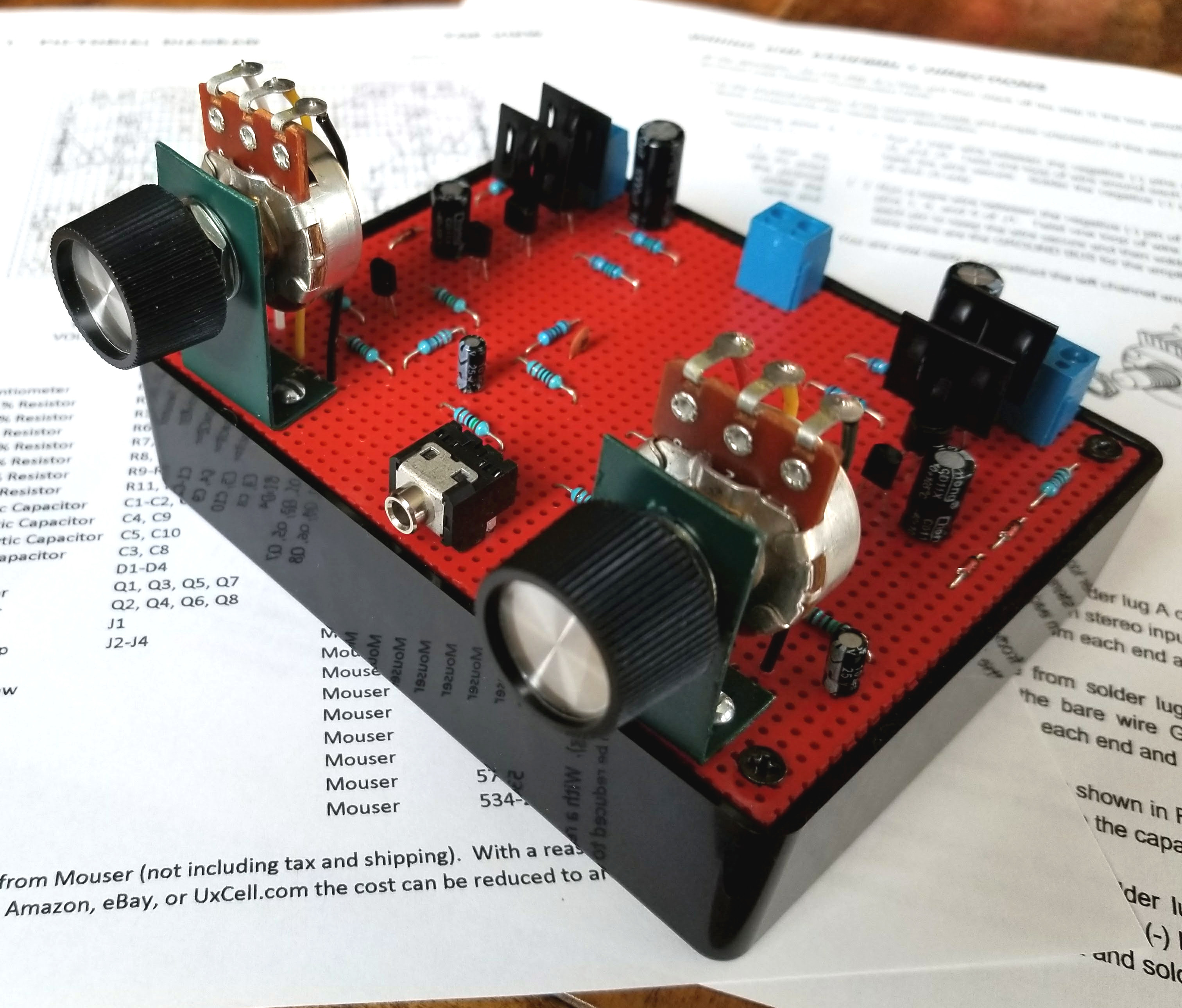 Build This 8 Transistor Stereo Amplifier Ideas Circuit Of Small Amplifiers The Assembly Manual Covers Setup And Operation Along With Some Modifications You Can Make To Double Output Power If Desired