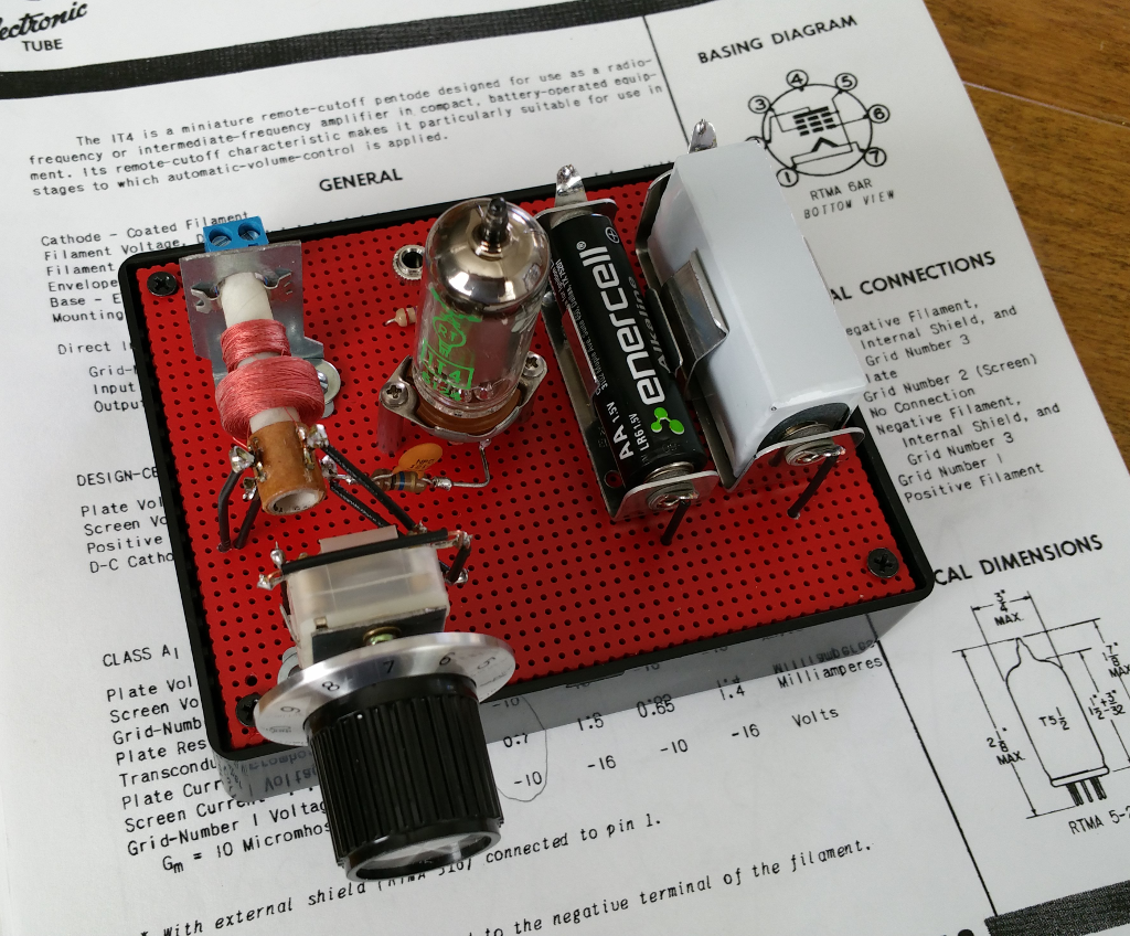 One Tube Am Radio This Is Thefinal Circuit Board Which Has Been Mounted In A Stock The Assembly Instruction Document Will Walk You Through Each Wiring Step Until Your Completed And Ready To Power Up